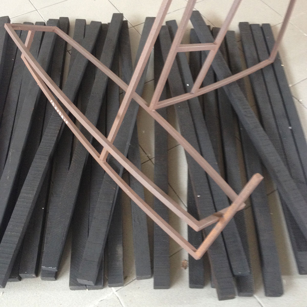 Yerutí - Escultura, hierro forjado y soldado ( 170 cm de alto)