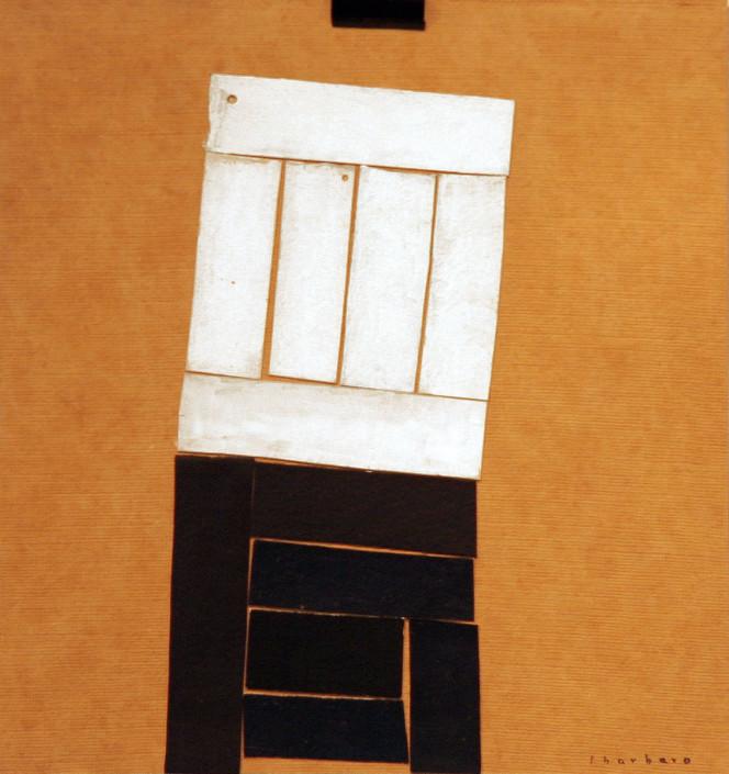 De la serie: Restos de mar - Collage, papel y acrílico (50 x 60 cm)