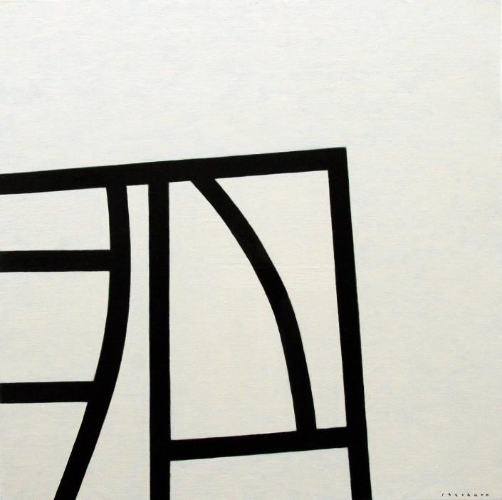 Estructura saliente - Óleo sobre tela (116 x 116 cm)