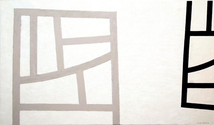 Recuadro desplazado - Óleo sobre tela (116 x 200 cm)